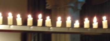 Candles at St Andrew's